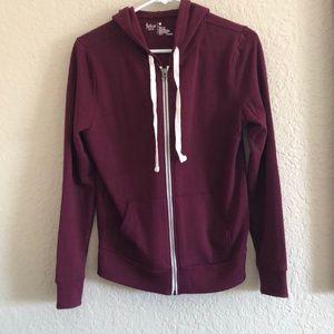 Maroon zip up hoodie